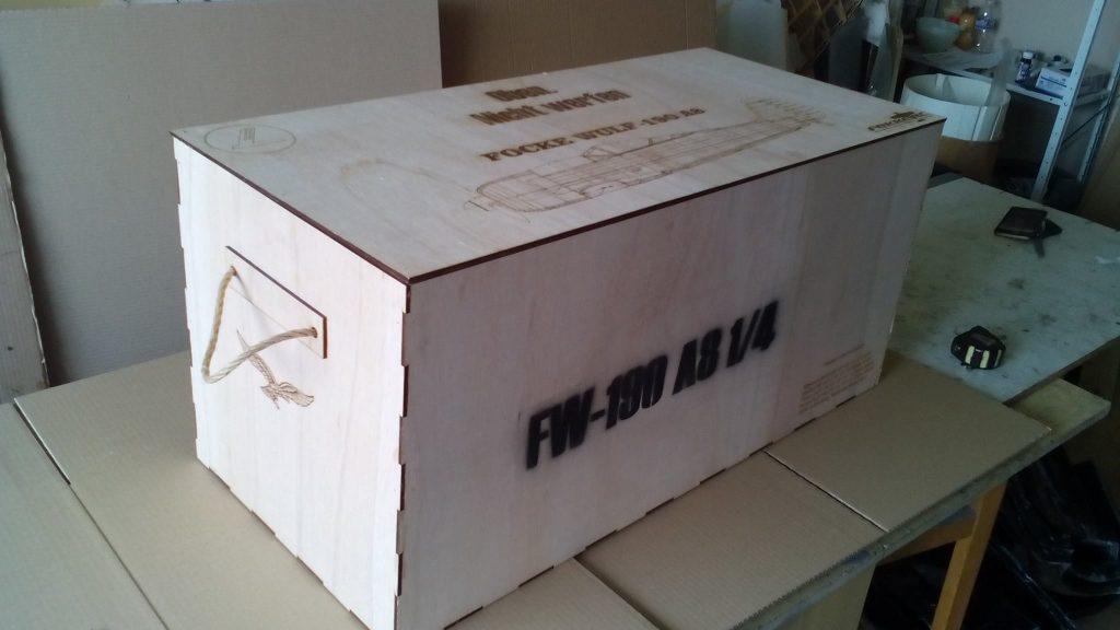 FW 190 A8 1/4 composite skin