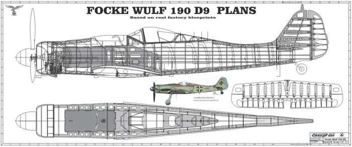 "Focke-Wulf 190 <span class=""focuspoint2"">D9</span> 1/4 Scale Model Wooden Kit"