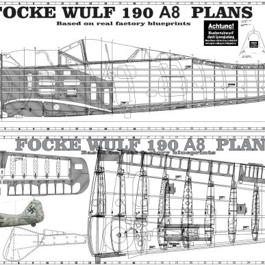 "Focke-Wulf 190 <span class=""focuspoint2"">A8</span> 1/3 Scale Model Wooden Kit"