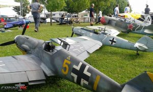 FokkeRC 1/5 Scale BF-109 E4 on RC event in Oberhausen, Germany in 2016