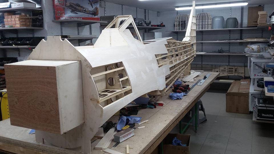 50%  FW 190 A8  update fuselage