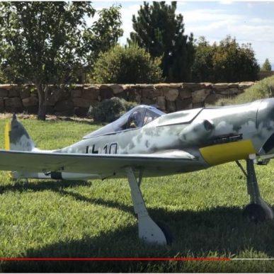 """Focke-Wulf 190 <span class=""""focuspoint2"""">D9</span> 1/5 Scale Model Wooden Kit"""