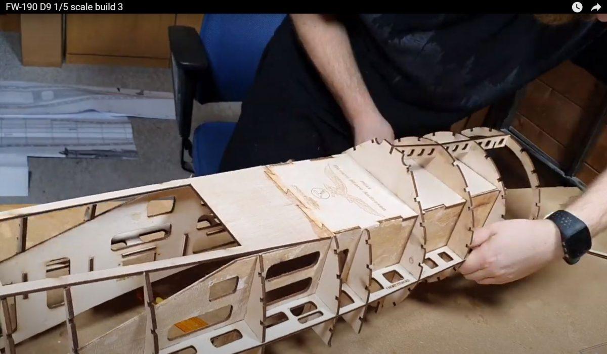 FW-190 D9 1/5 scale build 3