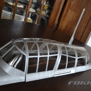 Canopy frame for Ju-87 Stuka D3-5 1/5 scale