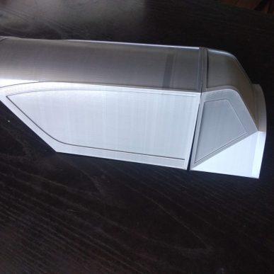 Canopy frame for Messerschmitt BF-109 G, K Scale 1/5